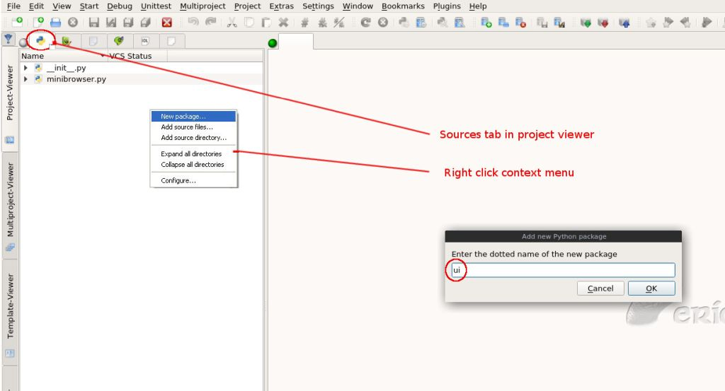 Eric6 web browser tutorial.